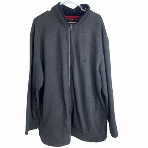 Nautica Pullover Sweater Gray Quarter Zip